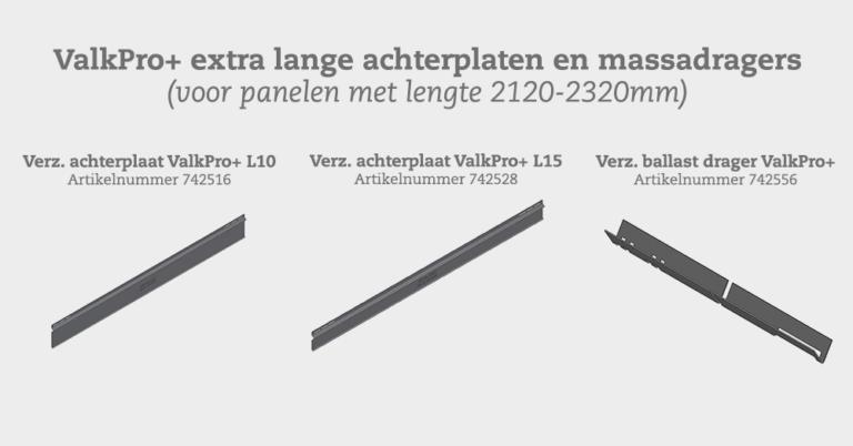 Image Nieuw: extra lange achterplaten en massadragers (ValkPro+)
